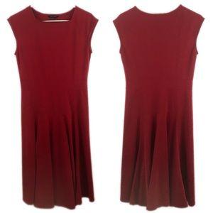 Lands' End Sleeveless Red Dress - A9